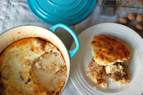 Lamb baked with rice