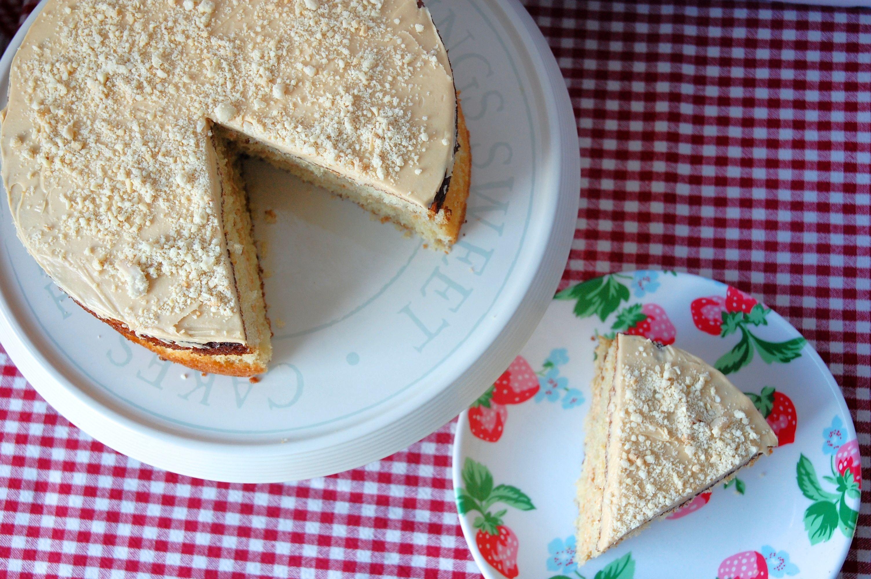 Peanut Cake with Caramel Buttercream