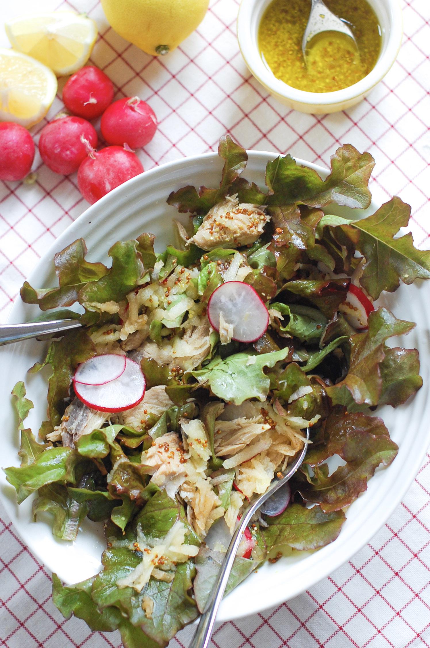 Tinned Mackerel Salad with Lemon Vinaigrette