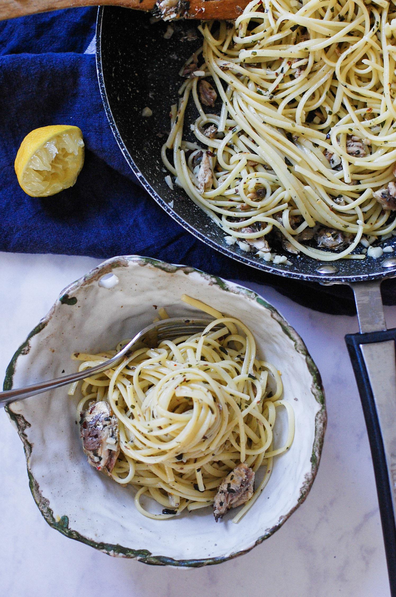 Sardine, Lemon and Chilli Linguine
