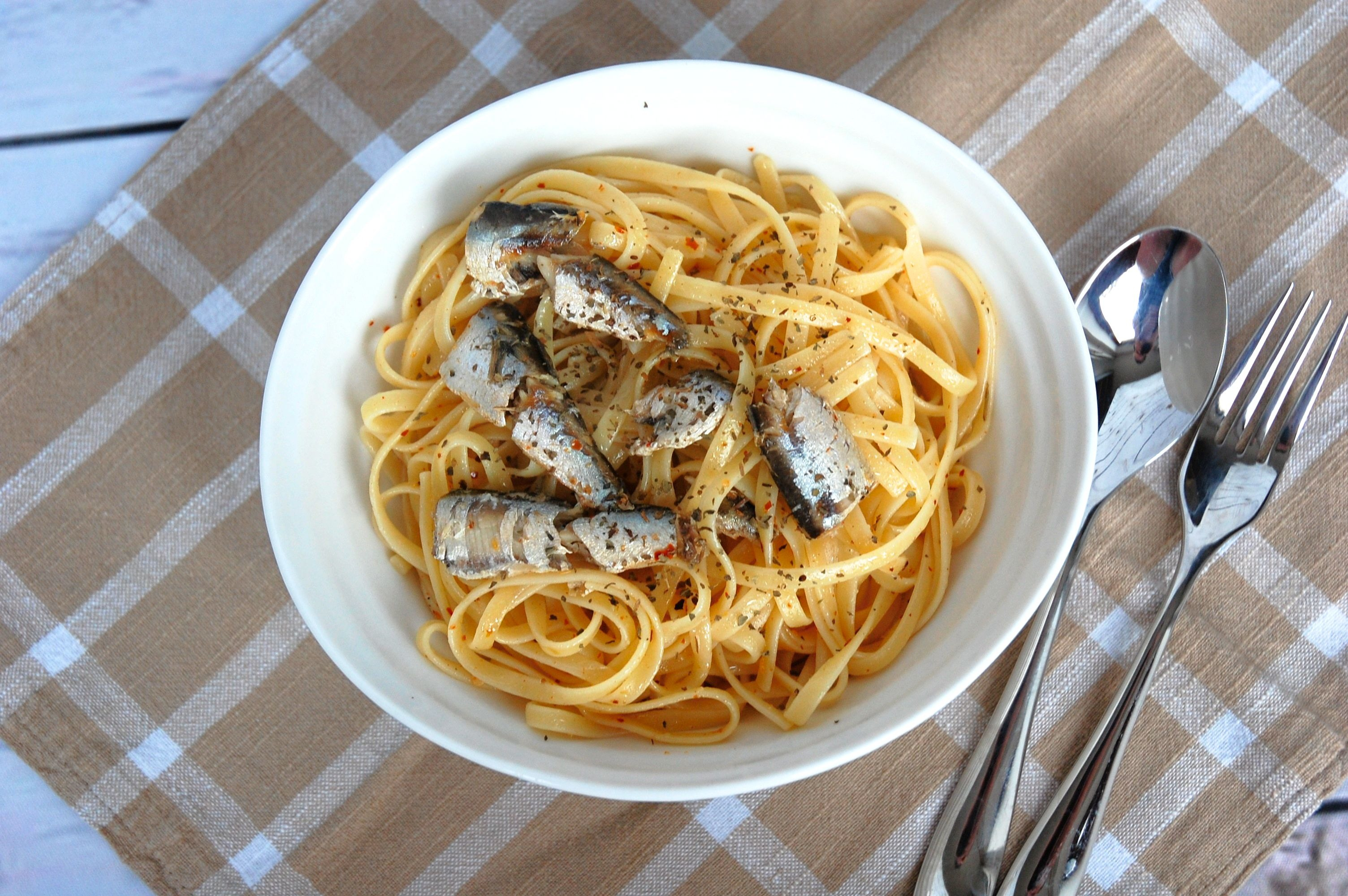 Sardine, Lemon and Chilli Linguine