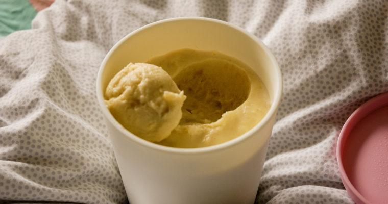 Roasted banana gelato