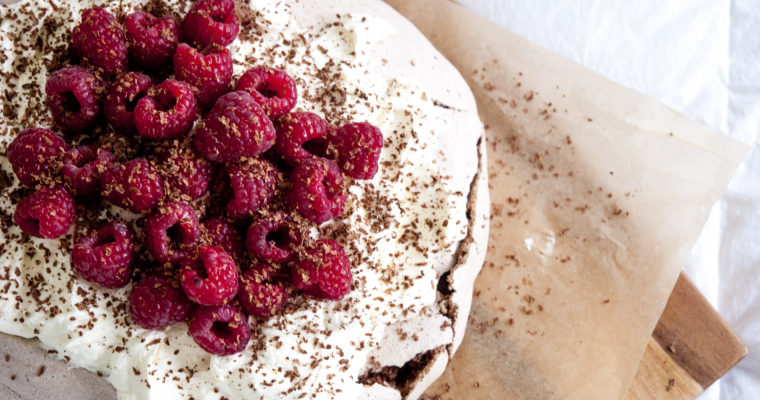 Chilli Chocolate Pavlova