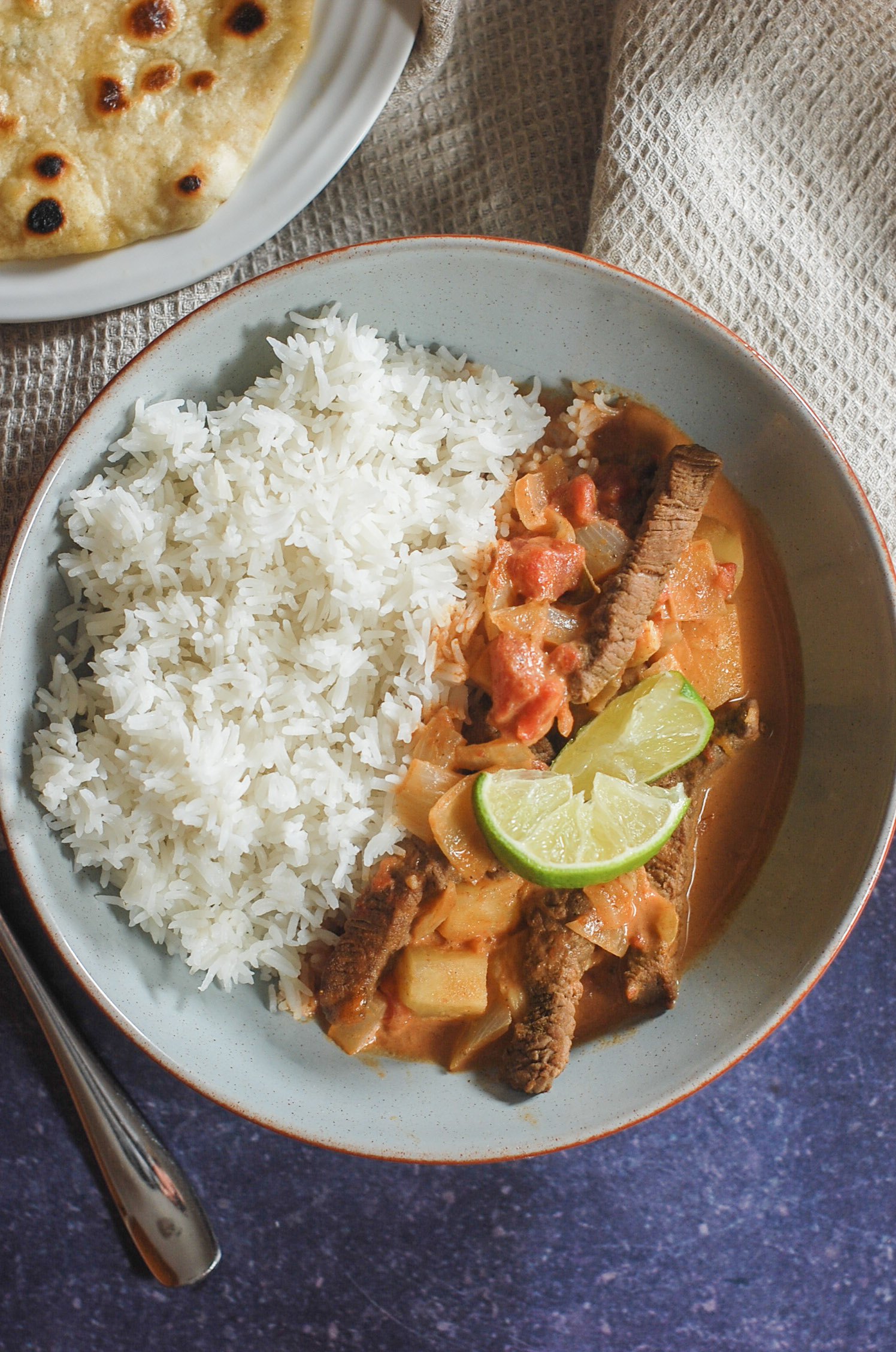 mild coconut beef curry