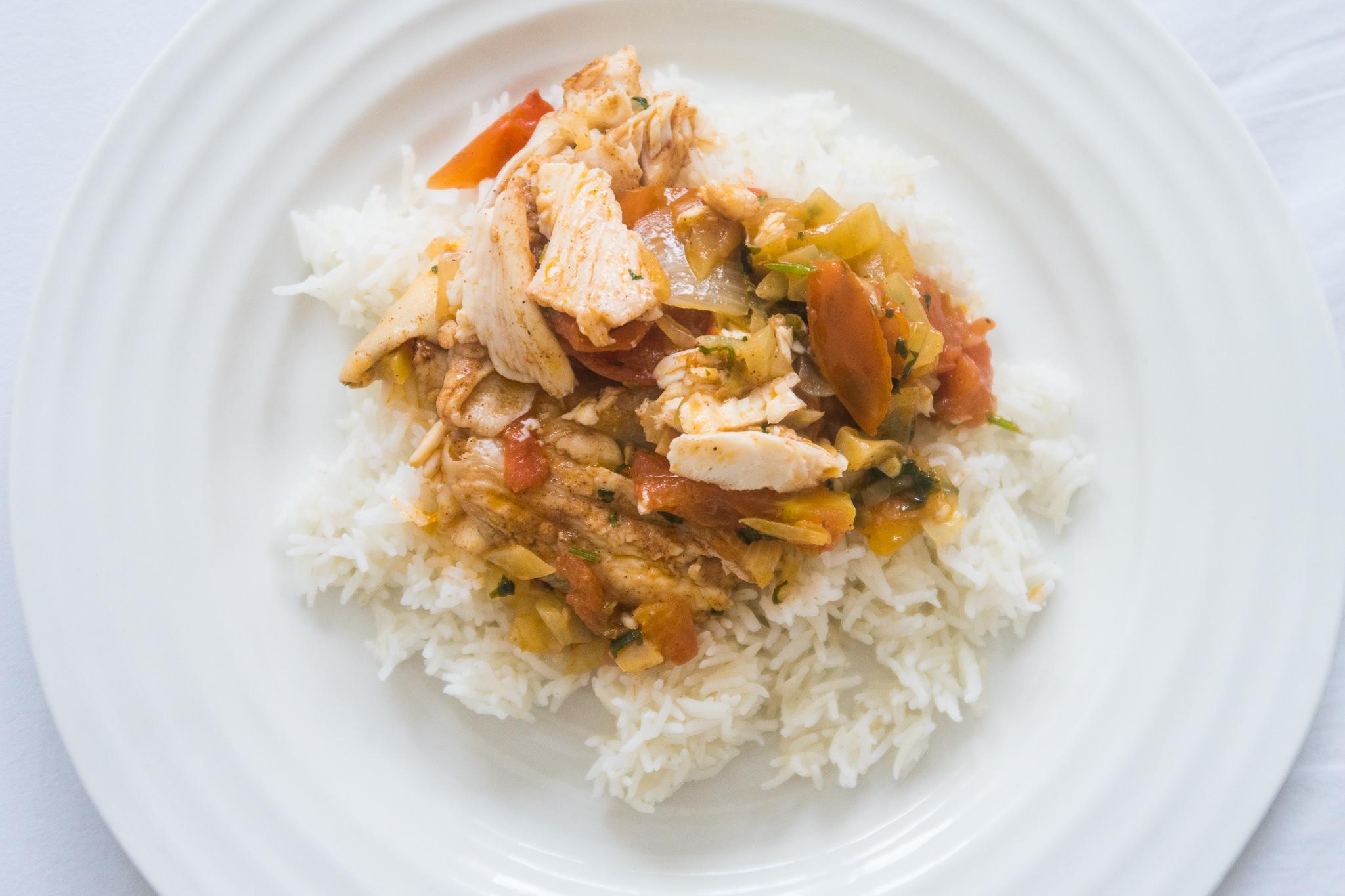 Bahraini Fish Ragout with Rice