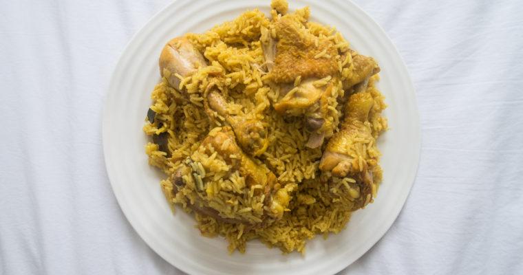 Traditional Bahraini Chicken Machboos