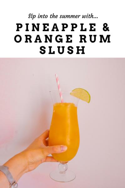 Pineapple and Orange Rum Slush