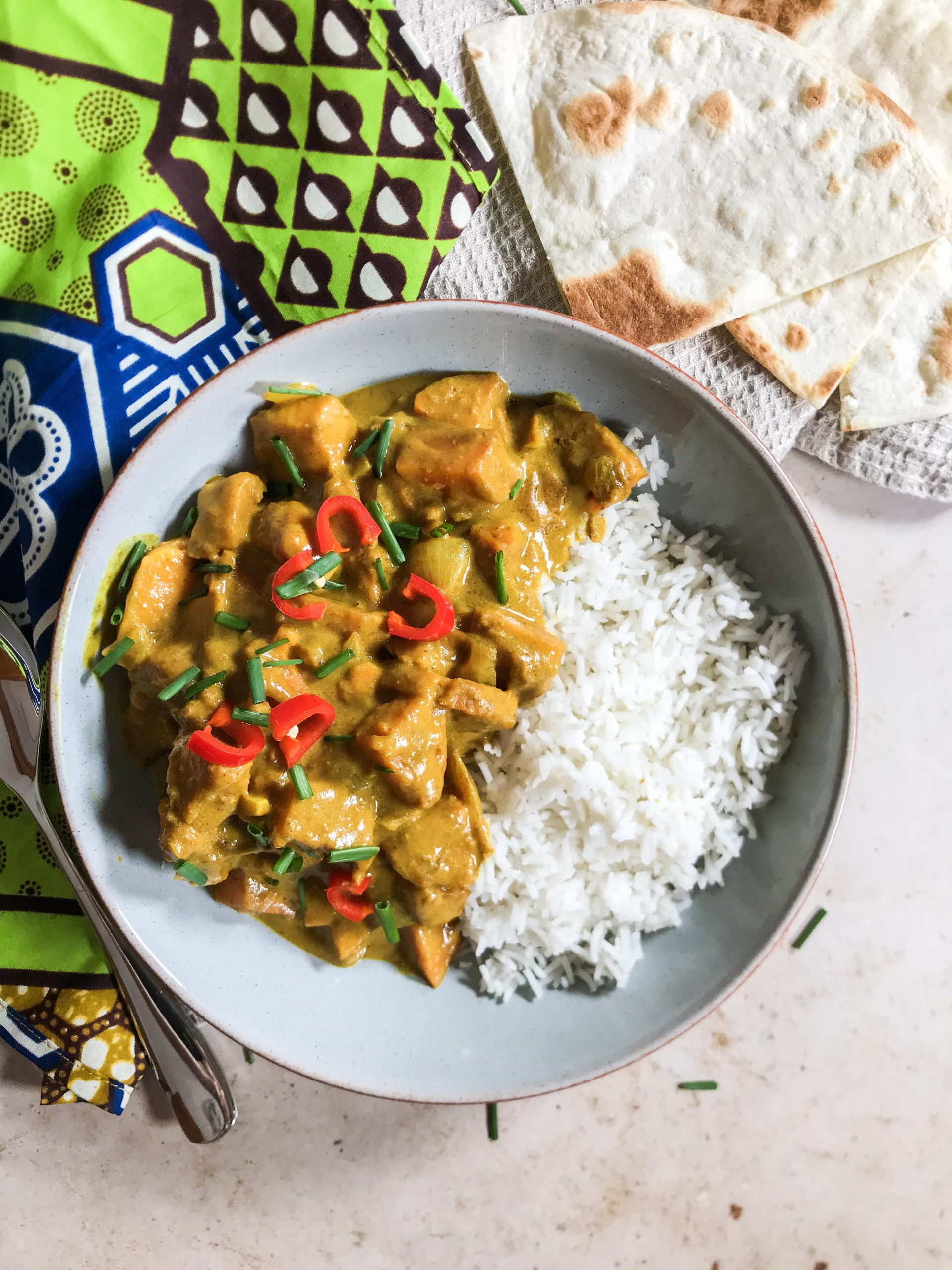Vegan Peanut Curry with Sweet Potato
