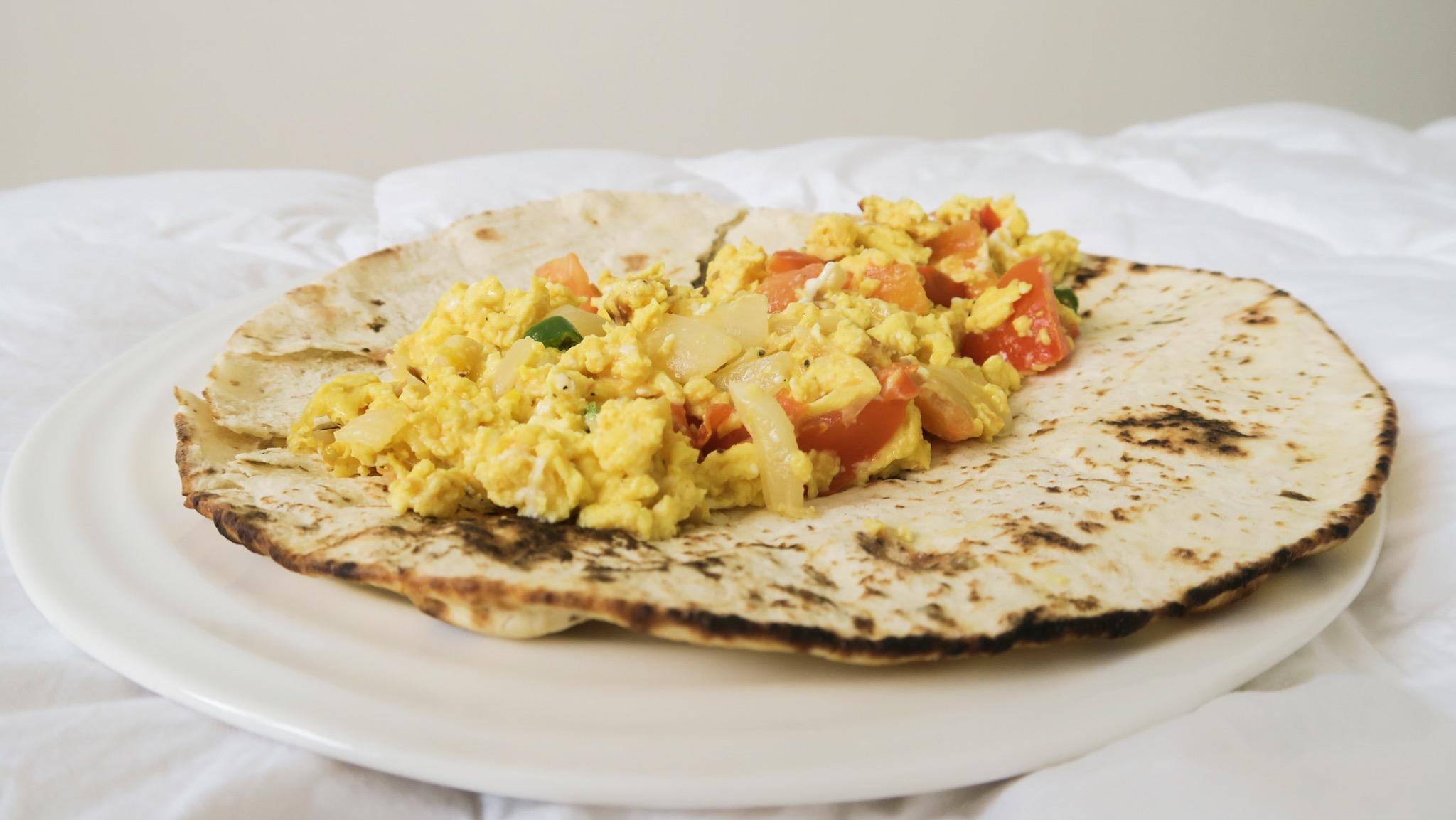 Afghan Eggs Burrito