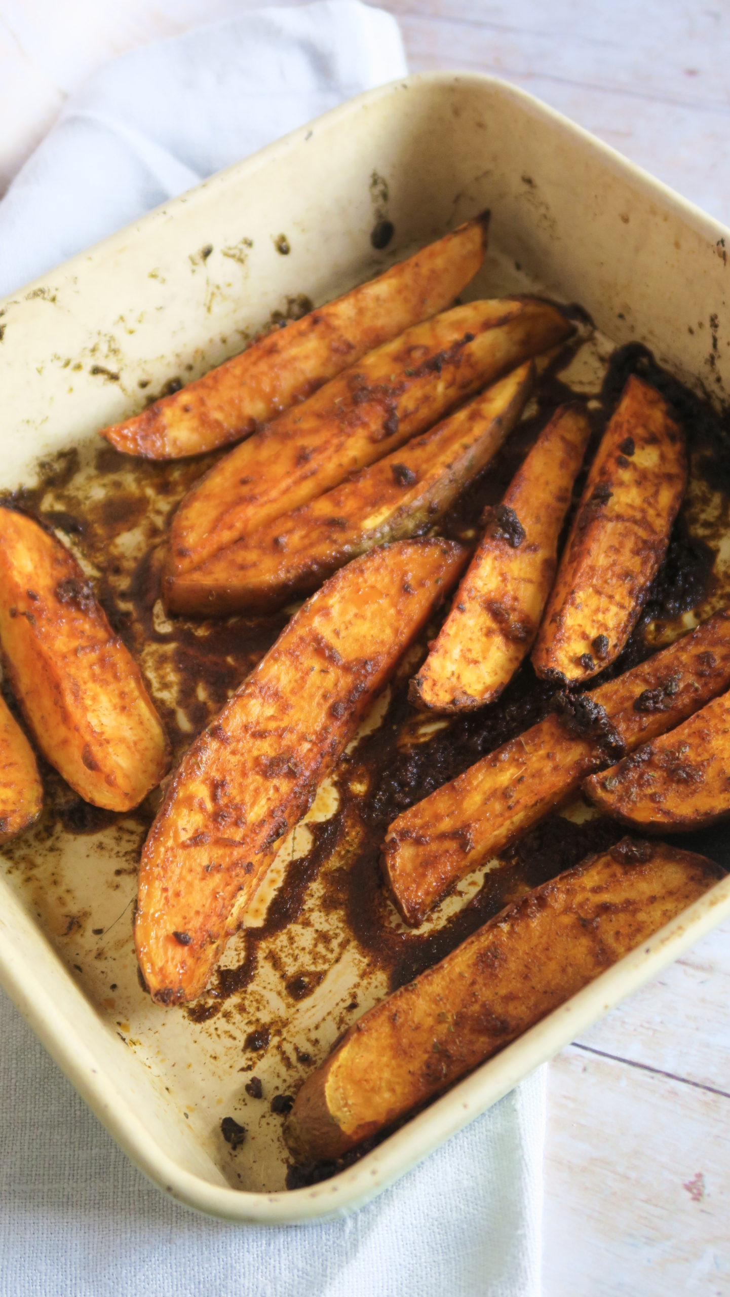 Roasted Peri-Peri Sweet Potato Wedges