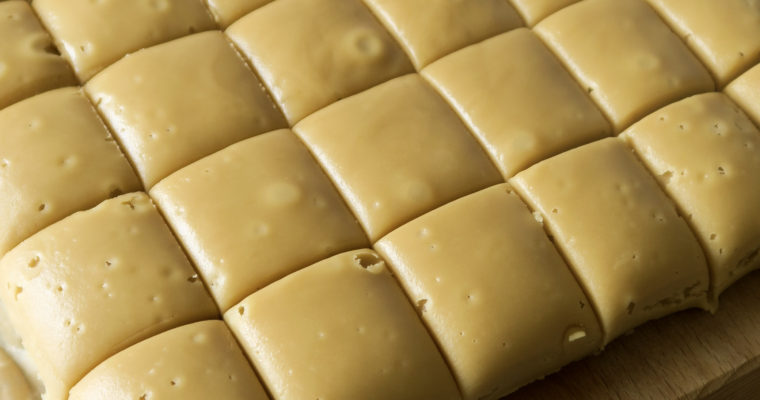 A tray of rum butter fudge