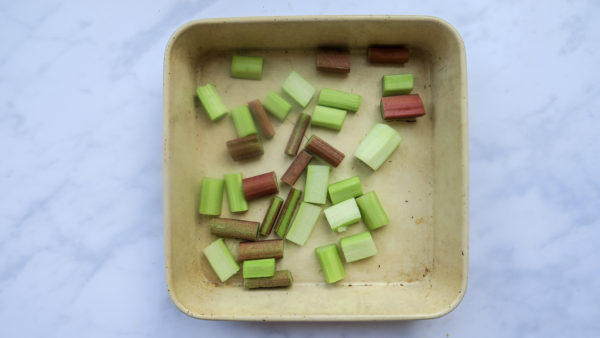 How to cut and prepare rhubarb