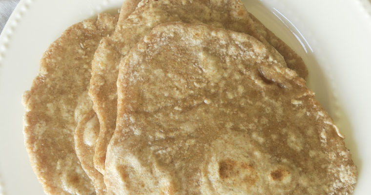 chapatis on a white plate