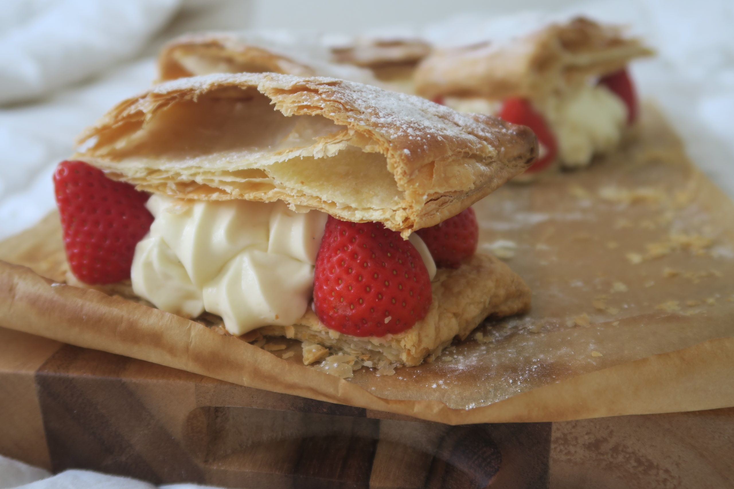 Easy Strawberry Mille-feuille