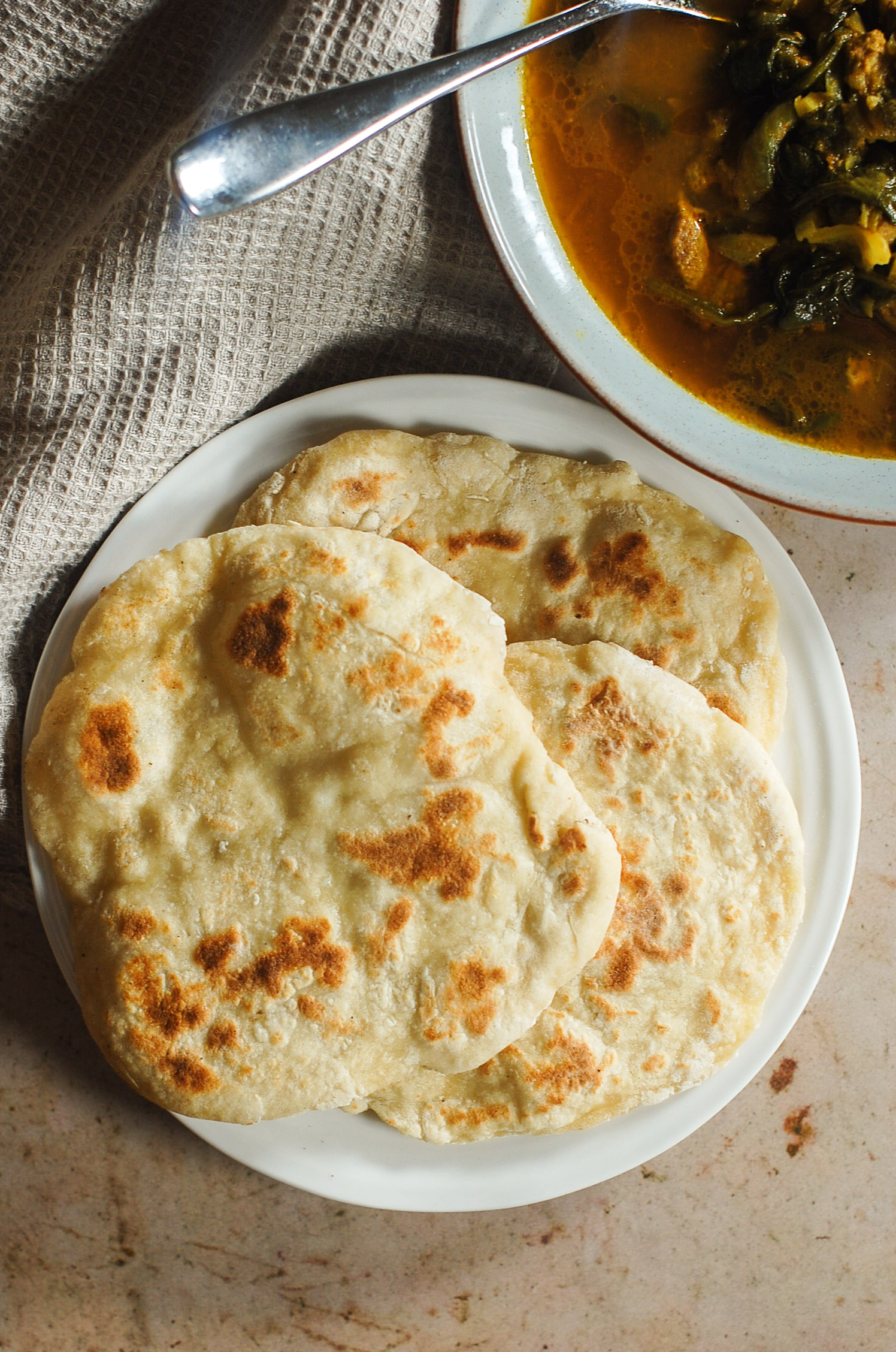 Easy Yeast-Free Naan Bread