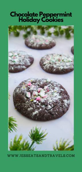 choc peppermint cookies Pinterest pin