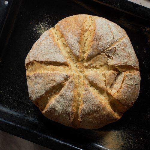 soda bread on a tray