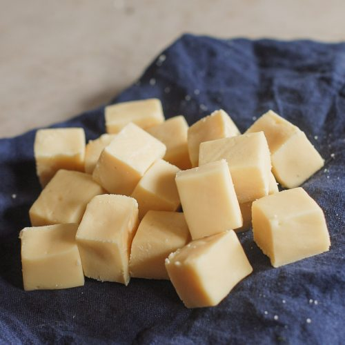 vanilla fudge in a pile