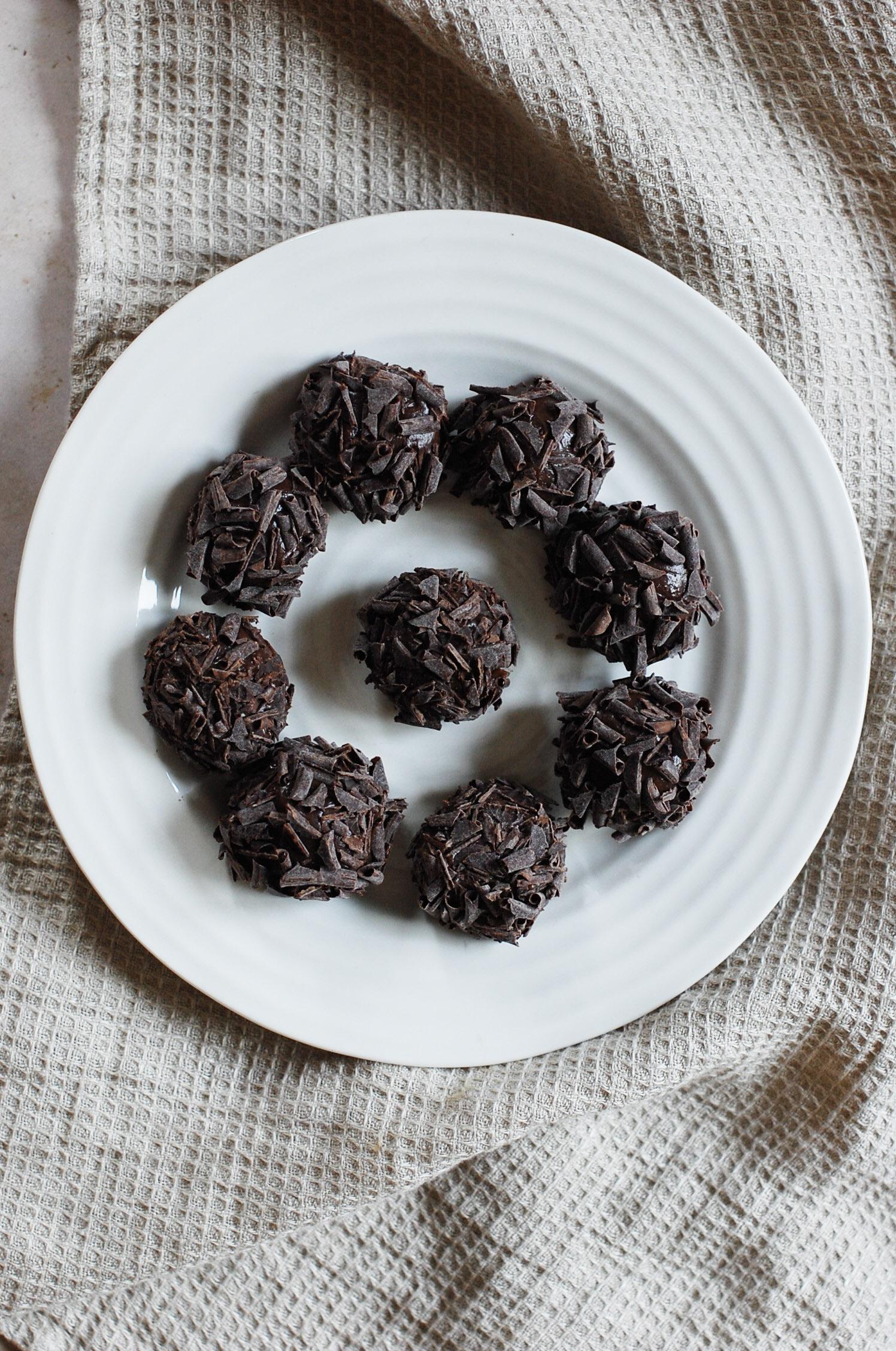 Salted Caramel Brigadeiros (Truffles)