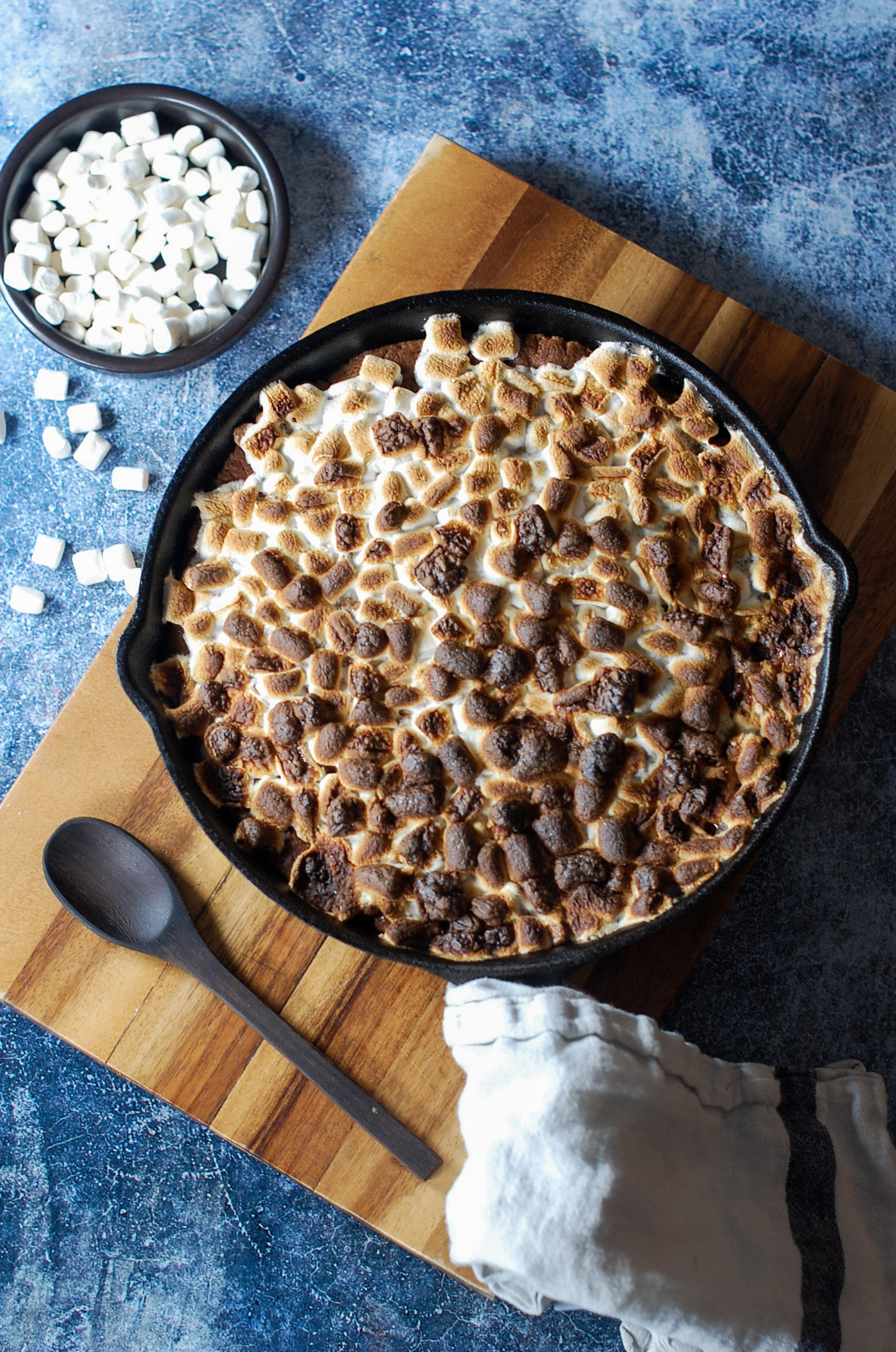 S'mores Chocolate Chip Skillet Cookie